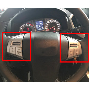 Image 5 - Botón de volante plateado para Isuzu, MU X, DMAX, MUX
