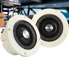 1 пара Водонепроницаемый морской стерео аудио колонки настенное крепление потолочные колонки Крытый открытый музыкальный плеер для лодки ATV UTV