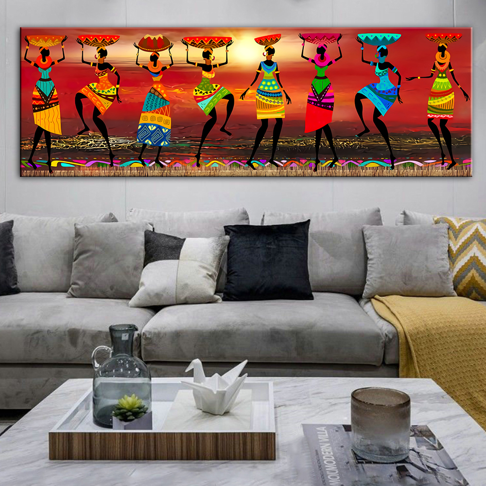 Abstract African Woman Art Canvas Paintings Black Woman Dancer Canvas Art Posters And Prints African Art Wall Picture Home Decor