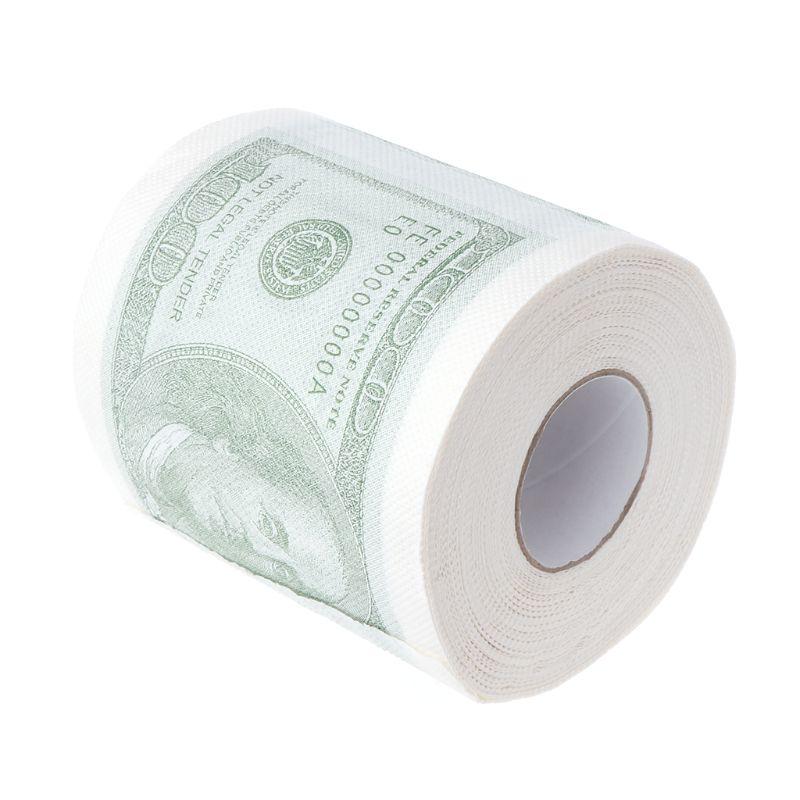 Hillary Clinton Donald Trump Dollar Humour Toilet Paper Gift Dump Funny Gag Roll 50JF