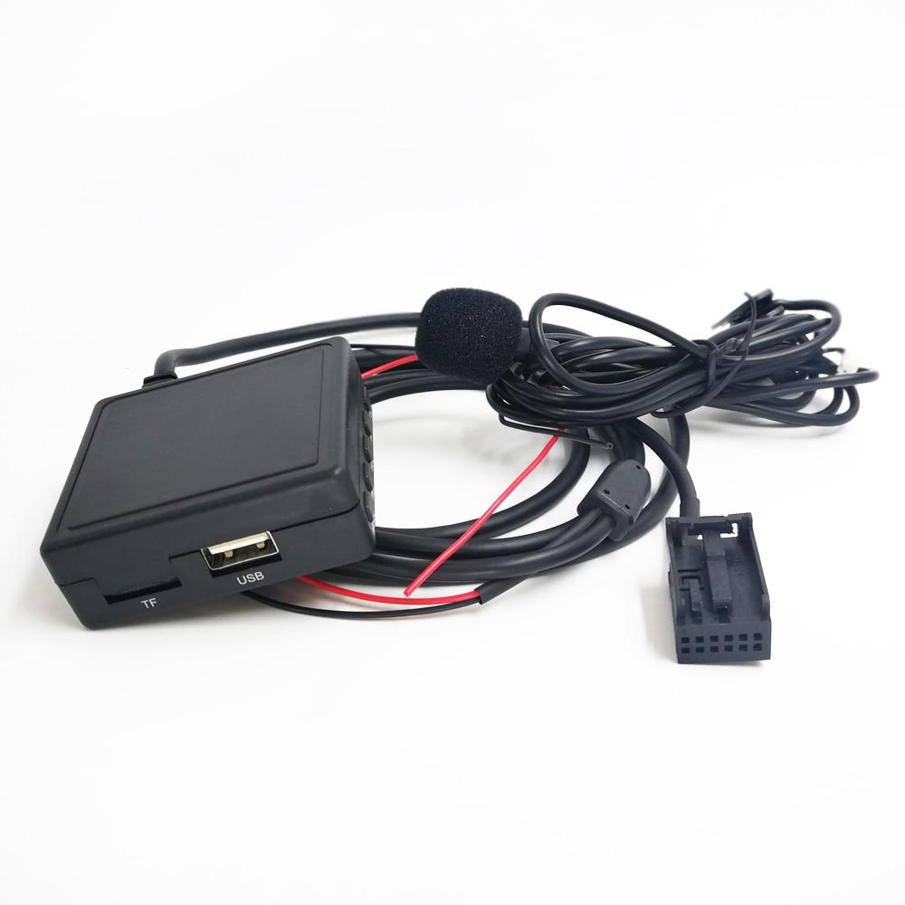 Biurlink Car AUX USB Microphone Bluetooth Adapter For Ford Focus 6000CD Radio Bluetooth Music Adapter 12Pin Wireless Audio Input radio harness car radio harness harness cable car radio - title=