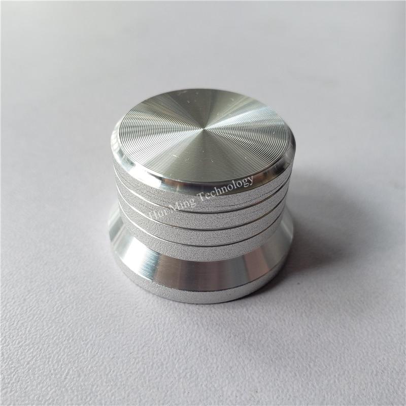 6pcs Aluminum Plastic Knob Potentiometer Knob 30*20*6mm O Shaft Matte Scrub Ballast Cap Volume Knob Switch Cap Amplifier