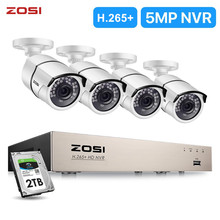 ZOSI New 5MP POE Video Security System and (4) 2-Megapixel Outdoor Bullet 2MP 1080P IP Cameras with 120ft Night Vision