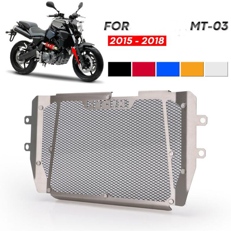 Motorcycle Parts For <font><b>MT</b></font>-<font><b>03</b></font> MT03 <font><b>MT</b></font> <font><b>03</b></font> 2015 2016 2017 <font><b>2018</b></font> Radiator Grille Grill Guard Cover Protector FZ <font><b>03</b></font> <font><b>MT</b></font> <font><b>03</b></font> MT03 image