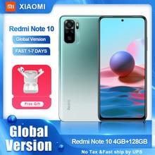Xiaomi-Smartphone Redmi Note 10, versión Global, Snapdragon 678, Pantalla AMOLED, cámara cuádruple de 48MP, 5000mAh, 33W, carga rápida