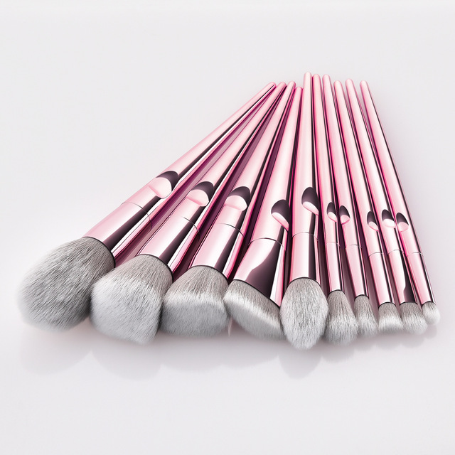 Professional Makeup Brushes For Face Eyeshadow Brush Blush Lip Eye Powder Mermaid Brushes Foundation Rose Gold Make Up Cosmetic 1