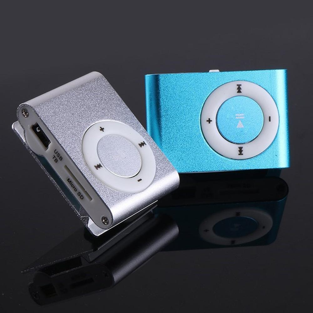 Portable Metal Screenless Card Mp3 Iron Clip Mp3 Player Student Sports Player Creative Mp3 Player Gift