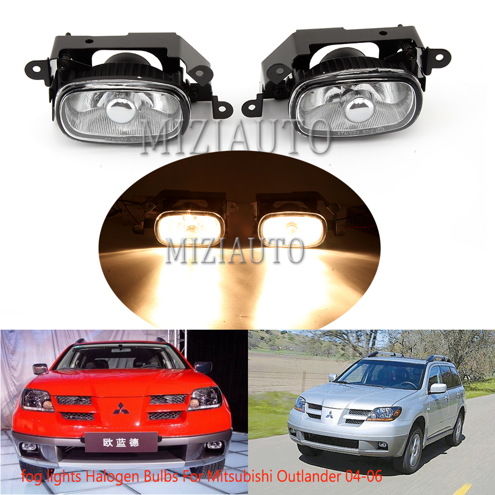 1 pcs car lights fog lights Halogen Bulbs For Mitsubishi Outlander 2004 2005 2006 fog lamps With 9006 interface