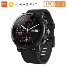 Original Amazifit Huami Stratos + Smart Watch Genuie Leather Strap genuie left
