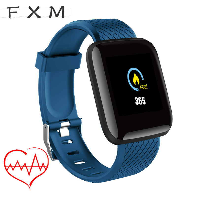 FXM Digital Watch 1.3 inch TFT Color Screen Bluetooth Men's Watches Waterproof Sport Watch Bracelet Fitness Tacker For Android