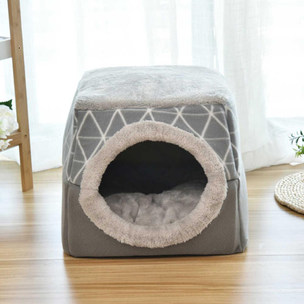 Chat lit maison nid pour animaux de compagnie chaud hiver chien canapé maison coussin chat animal de compagnie cadeaux de noël