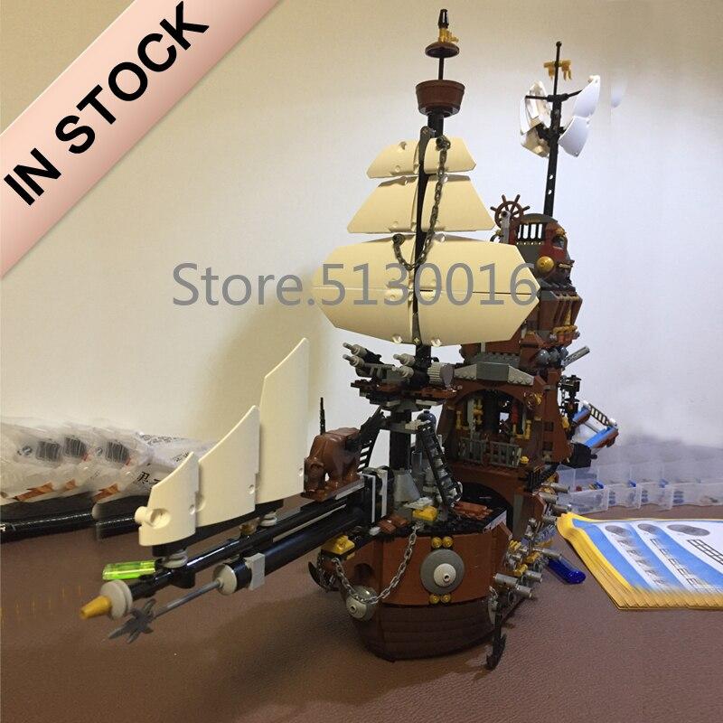 16002 In Stock Ideas The MetalBeard's Sea Cow Pirates of the Caribbean Ship 2791Pcs 70810 Model Building Blocks Bricks Toys