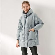 XIYUAN women hooded long duck down jacket female fashion sli