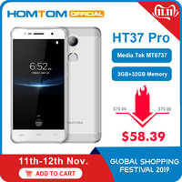 Original version HOMTOM HT37 Pro 4G Smartphone MTK6737 5,0 Zoll HD Android 7.0 3GB + 32GB 13MP 3000mAh Fingerprint ID Handy