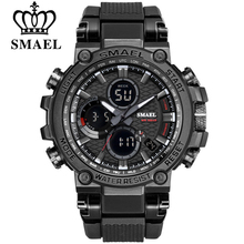 SMEAL Men Sport Watches Digital Double Time Chronograph