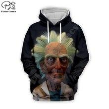 New anime Funny Rick and Morty 4 3D print Men Hoodie women Sweatshirt old rick streetwear unisex zipper jacket pullover tshirt
