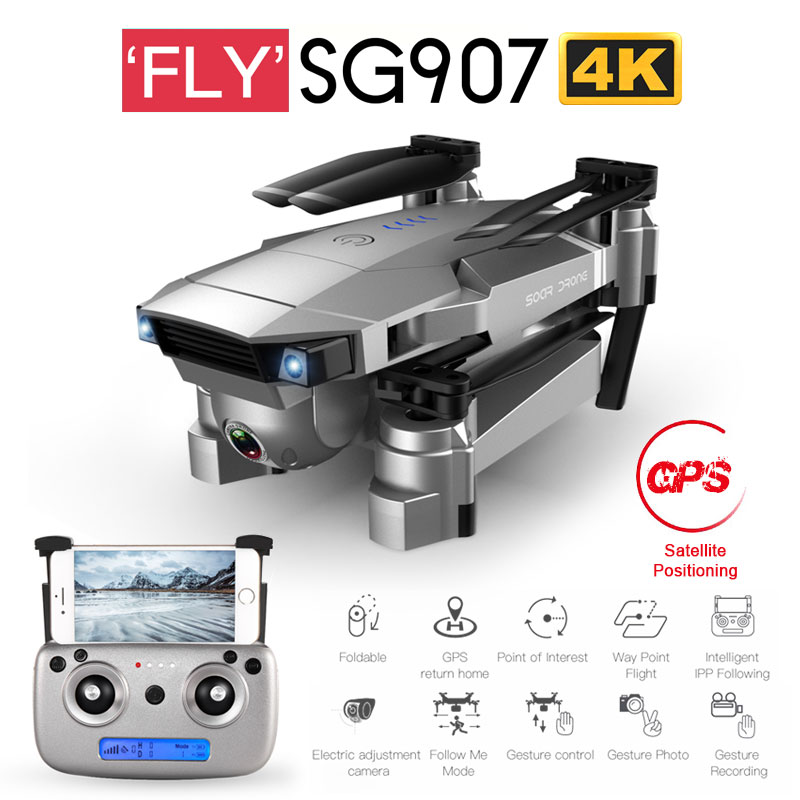 ZWN SG907 SG901 GPS RC Quadcopter with Wifi FPV 1080P 4K HD Dual <font><b>Camera</b></font> Optical Flow Drone Follow Me Mini Dron VS SG106 E502S image