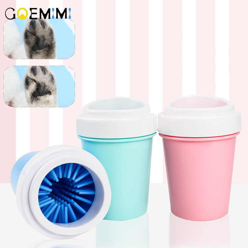 Pet <font><b>Paw</b></font> <font><b>Cleaner</b></font> Cleaning Kit Cup Soft Brush Can Foot Cups Washer <font><b>Dog</b></font> Puppy Cat Kitten Washing Devices Dirty Feet image
