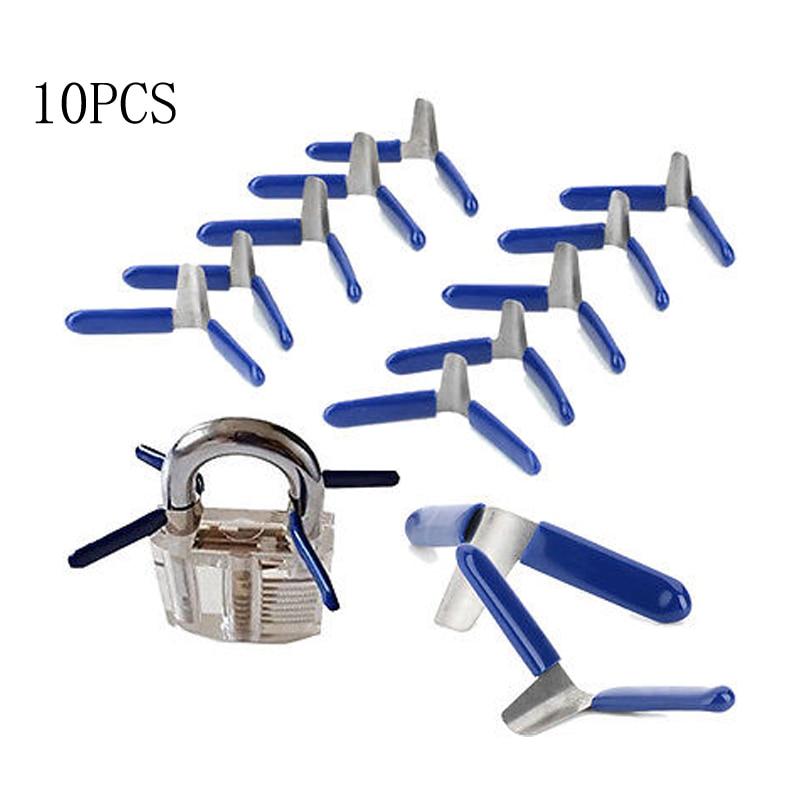 10pcs Padlock Shim Picks Set Lock Pick Accessories Set Tools Lock Home Tools Locksmith Tools New 2020