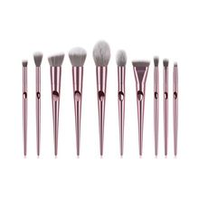 Fashion Makeup Brushes Sets 1 to 10 PCS Metal Foundation Cosmetic Eyebrow Eyeshadow Makeup Brush Tools