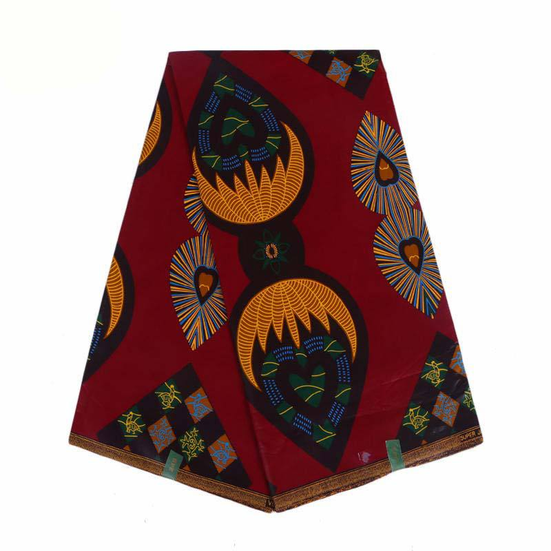 Hot Sales High Quality Kwanzaa Dutch Wax Fabric African Red Color Fabric For Wedding Dress Material