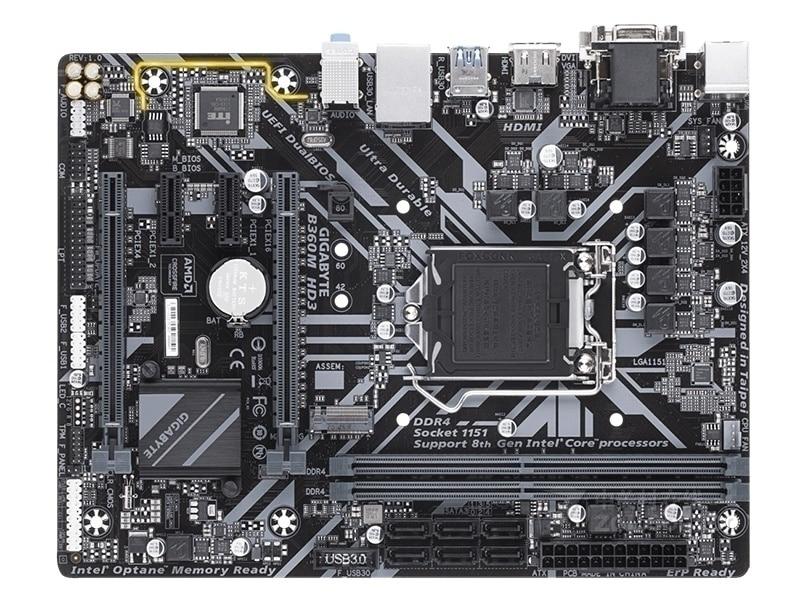 Used Gigabyte B360M HD3 desktop motherboard LGA 1151 DDR4 32GB USB2.0 USB3.1 B360 original motherboards