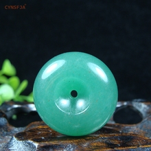 CYNSFJA Real Certified Natural Jade Charms Amulets Peace Buckle Pendant Carved Green Fine Jewelry High Quality Best Gifts
