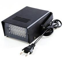 Ue plug 3 w 24 led luzes do palco operado luzes estroboscópicas dj disco party club ktv stroboscope branco efeitos de iluminação palco ac220v