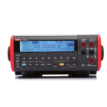UNI-T UT805A 199999 Counts High-Accuracy Ture RMS LCD Bench Top Digital Multimeter Volt Amp Ohm Capacitance Hz Tester uni t ut71 series digital multimeter ture rms ac dc meter volt ampere ohm capacitance temp tester 40000 counts 0 025% accuracy