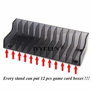 Image 4 - IVYUEEN 1 pcs עבור Nintend מתג NS קונסולת משחק כרטיס תיבת אחסון Stand מחזיק עבור NintendoSwitch לייט דיסקים כרטיס מחזיק stand