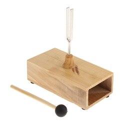 Вилка для настройки 440 Гц с деревянной резонансной коробкой, музыкальный инструмент для акустического кабинета