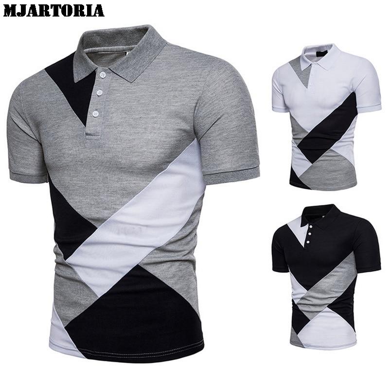 MJARTORIA   Polo   Shirts Men 2019 Summer Fashion Camisa High Quality Short Sleeve Mens Shirt Brands Breathable Brand Tee Tops