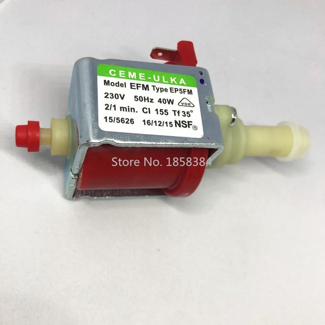 AC230V Original authentischen kaffee maschine pumpe ULKA EP5FM elektromagnetische pum medizinische ausrüstung waschen machi