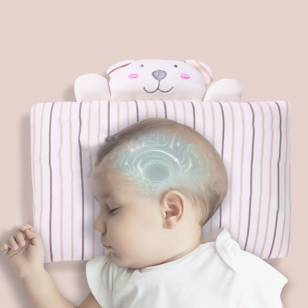 Toddler Baby Soft Cotton Pillow Shaping Kids Travel Neck Pillow  Kids Sleep Head Pretection Pillow Anti Fall For 3-6M Newborn