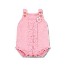 Autumn Bodysuits For Girls Boys Onesie Knitted Newborn Baby Coveralls Sleeveless Toddler Jumpsuits Children Body Suit