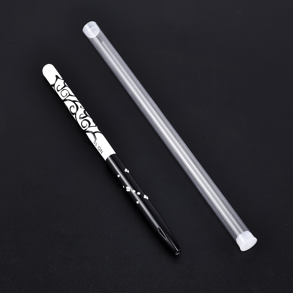 Art Nails Brush Pen Metal Acrylic Handle Carving Powder Gel Liquid Salon Liner Nails Brushes with Cap