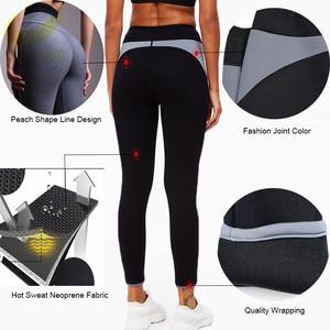 Image 2 - LAZAWG sıcak neopren pantolon vücut şekillendirici pantolon spor egzersiz Legging sıcak termo bel eğitmen korse Shapewear ev spor popo Lifte