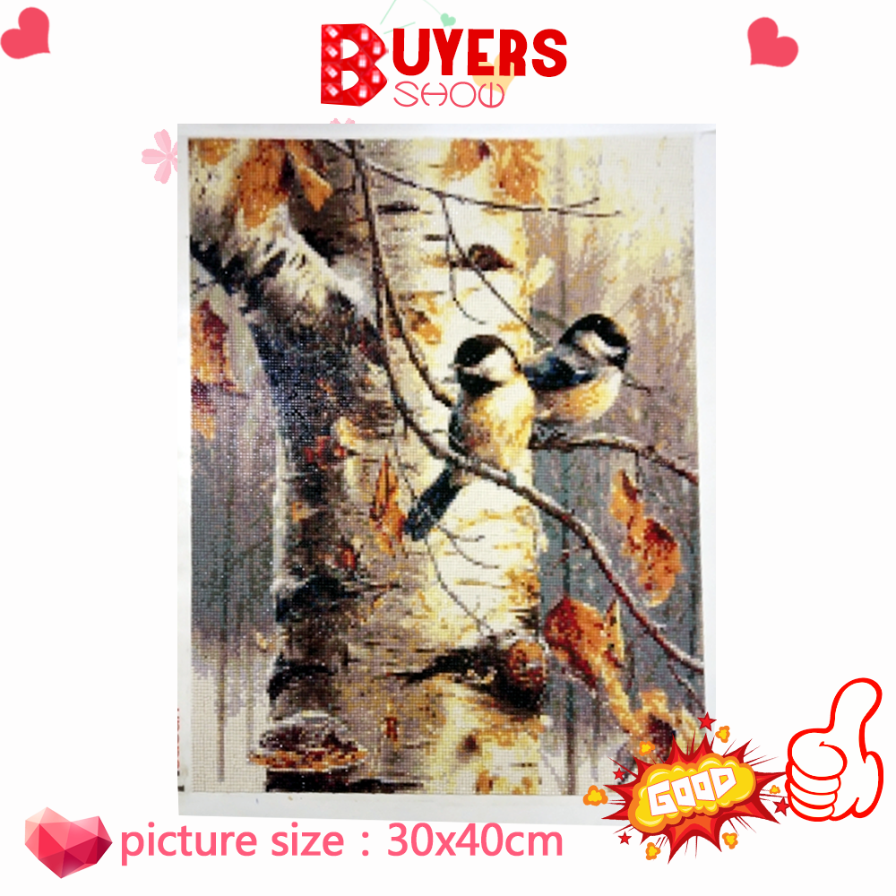HUACAN 5d Diamond Painting Animal Bird Diamond Art Full Drill Round Embroidery Home Decoration New Arrival Gift