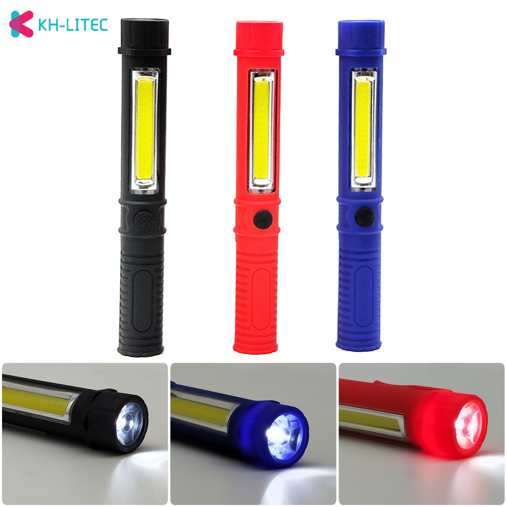 Portable Mini Light Working Inspection Light COB LED Multifunction Maintenance Flashlight Hand Torch Lamp With Magnet AAA