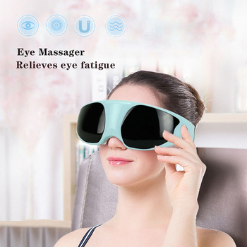 Smart Electric Eye Massager Anti Wrinkles Hot Compress Dark Circles Remove Eye device Magnet Therapy Acupuncture Massage Glasses electric thermal eye massager eye care beauty instrument device remove wrinkles dark circles puffiness massage relaxation