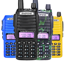 Baofeng UV-82 рация двойной PTT UV 82 портативный двухстороннее радио VHF UHF Ham CB радиостанция 1 шт. UV82 охотничий трансивер