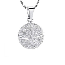 JJ011 Basketball Cremation Jewelry For Child /Men Stainless Steel Sport Keepsake Pendant Ashes Holder Urn Necklace(China)