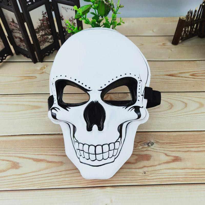Halloween Horror Festival Maschera Maschera Del Fantasma Testa Maschera Maschera di Orrore Smiley Luce Fredda Sticker Spaventoso Maschera di Travestimento Maschere di Carnevale Prop