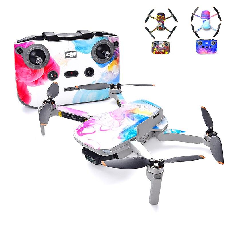 Drone Waterproof Skin Protective PVC Stickers Drone Body Arm Remote Control Protector for DJI Mini 2 Accessories