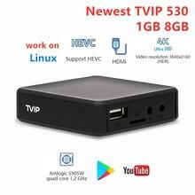 Le plus récent TVIP530 Amlogic S905W TvBox 1GB 8GB Quad Core TV Box s box V.530 Youtube 4K Linux OS TVIP 530 PK 410 412 415 multimédia playe