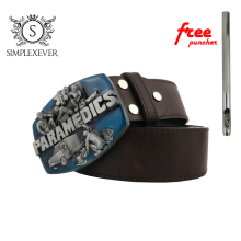 PARAMEDICS Belt Buckle Brand New Western Belt Buckle with Good Plating Suitable for 4cm Width Belt Dropship