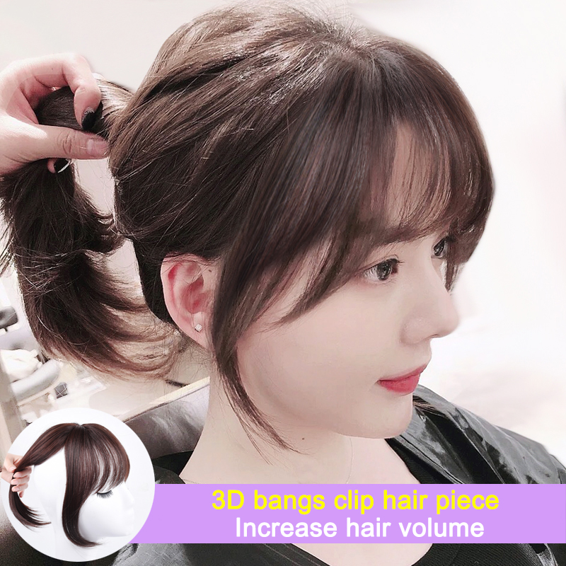 3D челки DIANQI, невидимые бесшовные синтетические волосы, искусственные коричневые черные челки, короткие волосы для женщин и взрослых, зажимы для волос BB Челки из синтетики    АлиЭкспресс