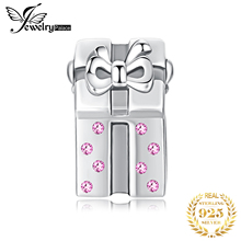 JewelryPalace Christmas Gift Love Santa Created Pink Sapphire 925 Sterling Silver Charm Beads 2018 New Hot Sale For Girl