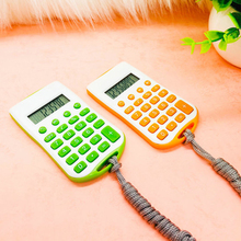 Student Portable Practical School Office Handhold Pocket Store Hanging Rope Electronic Mini Colorful Calculator