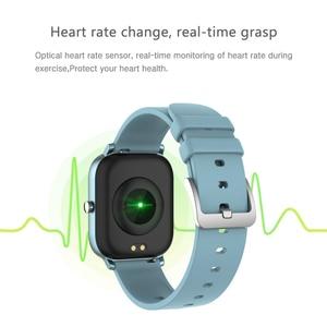Image 2 - 전체 화면 터치 P8 스마트 시계 팔찌 남성 여성 스포츠 더 많은 시계 얼굴 심장 박동 모니터 수면 모니터 IP67 Smartwatch